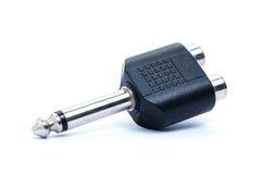 Audio plug adaptors Royalty Free Stock Photo