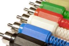 Audio plugs Stock Photos
