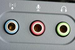 Audio ports Stock Photography
