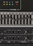 Audio Processing Equipment. EQ and Reverb Royalty Free Stock Photography