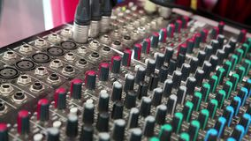 Audio production console stock video footage