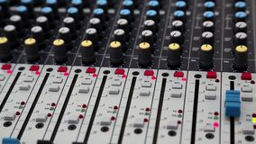 Audio production console stock video