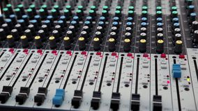 Audio production console stock footage