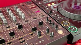 Audio production console in sound-recording studio stock video footage