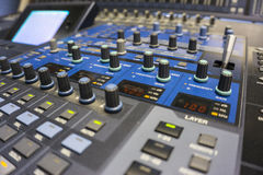 Audio Production Switcher of Television Broadcast Royalty Free Stock Photography