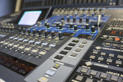 Audio Production Switcher of Television Broadcast Royalty Free Stock Image