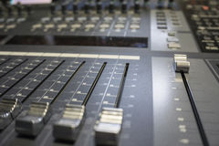 Audio Production Switcher of Television Broadcast stock images