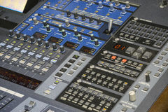 Audio Production Switcher of Television Broadcast Royalty Free Stock Images