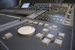Audio produkci Switcher telewizi transmisja obrazy royalty free