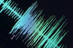 Audio pubblicazione dello studio dell'onda sonora Immagini Stock