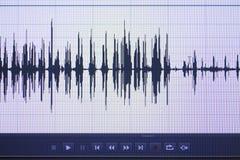 Audio pubblicazione dello studio dell'onda sonora Fotografia Stock Libera da Diritti