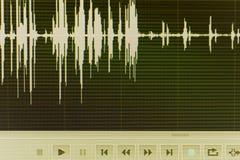 Audio pubblicazione dello studio dell'onda sonora Immagine Stock