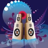 audio pudełkowaci mobilni muzyczni mówców telefony ilustracja wektor