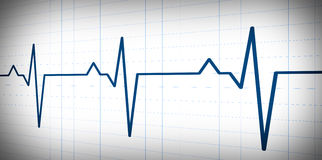Audio or pulse beat wave simple graph Stock Image