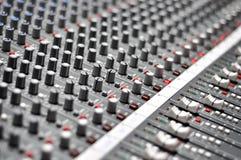 Audio pult della miscela Immagini Stock Libere da Diritti