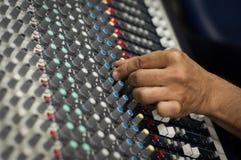 Audio pult moderno della miscela Immagine Stock
