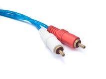 Audio-RCA-Kabel Lizenzfreies Stockfoto