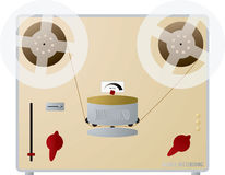 Audio recorder. An illustration of an old fashioned tape recorder vector illustration