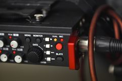 Audio recording solution for filmmakers. Linear PCM recorder Stock Photos