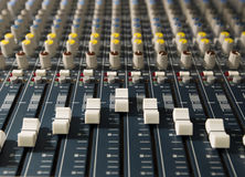 Audio recording studio. Music mixer audio recording studio Stock Images