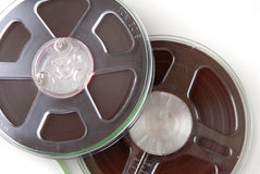 Audio recording tape reels Royalty Free Stock Photos