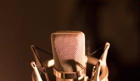Audio recording vocal studio voice microphone Stock Image