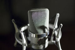 Audio recording vocal studio voice microphone Stock Images