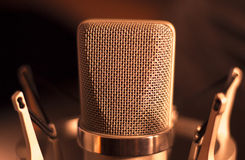 Audio recording vocal studio voice microphone Royalty Free Stock Photo