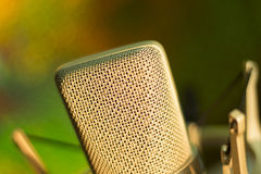 Audio recording vocal studio voice microphone Royalty Free Stock Photos