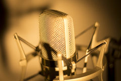 Audio recording vocal studio voice microphone Royalty Free Stock Image
