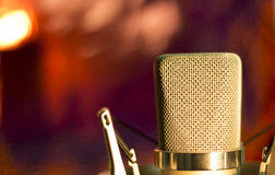 Audio recording vocal studio voice microphone Royalty Free Stock Photography