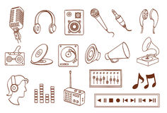 Audio related icon set Stock Photo