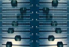 Audio reticolo dei faders Immagine Stock