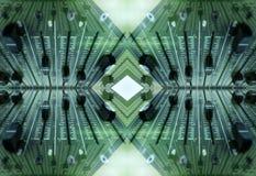 Audio reticolo dei faders Fotografia Stock Libera da Diritti
