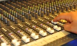 Audio scheda mescolantesi Immagini Stock