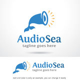 Audio Sea Logo Template Design Vector. This design suitable for logo or icon. Color and text can be changed easily Royalty Free Stock Photography