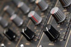 Audio sezione comandi mescolantesi Fotografie Stock Libere da Diritti