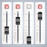 Audio sezione comandi mescolantesi Immagine Stock