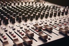 Audio sezione comandi mescolantesi Fotografie Stock