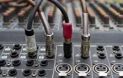 Audio sezione comandi mescolantesi Immagini Stock