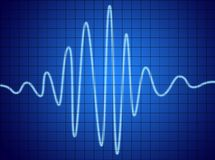 Audio signal Stock Photo