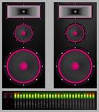 Audio sistema Immagini Stock Libere da Diritti