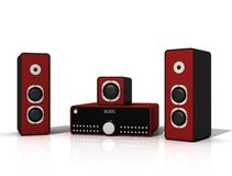 Audio sistema Fotografie Stock Libere da Diritti