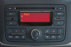 Audio sistema dell'automobile moderna Fotografia Stock Libera da Diritti