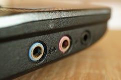 Audio slots. Row of audio slots Stock Photography