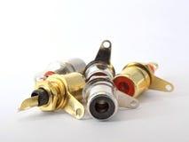 Audio sockets Stock Image