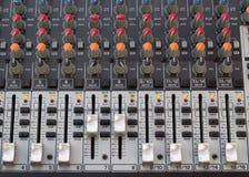 Audio sound console bar panel Royalty Free Stock Photos
