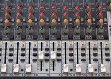 Audio sound console recording bar Royalty Free Stock Photos
