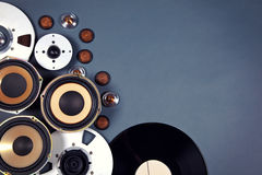 Audio Sound Media Objects Collection Set Stock Photo