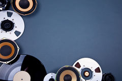 Audio Sound Media Objects Collection Set Stock Image